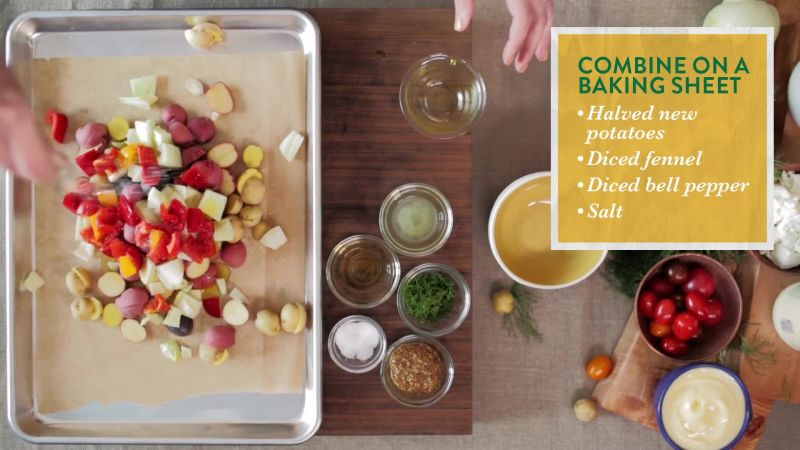Watch hellmanns loaded baked potato salad epicurious video cne forumfinder Images