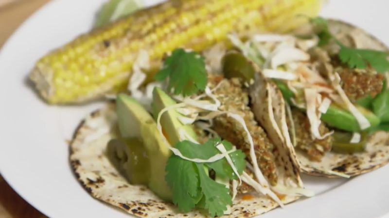 Watch how to make sheet pan fish tacos epicurious video for How do you make fish tacos