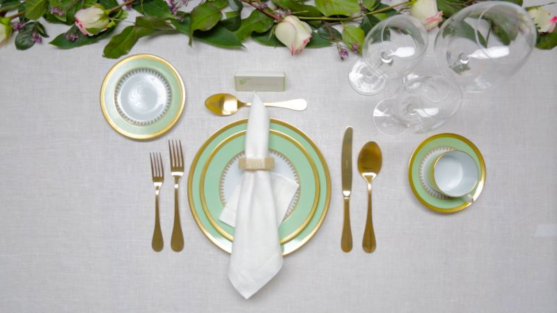 Watch How To Set A Dinner Table Architectural Digest