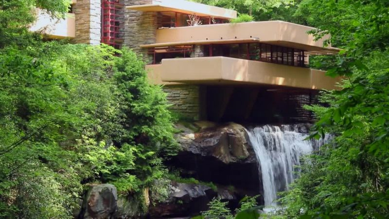 Watch Frank Lloyd Wrights Iconic Fallingwater House