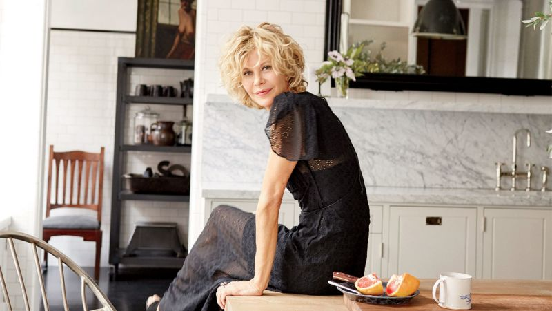 Watch celebrity living inside meg ryan 39 s stunning new - Architectural digest celebrity homes 2016 ...