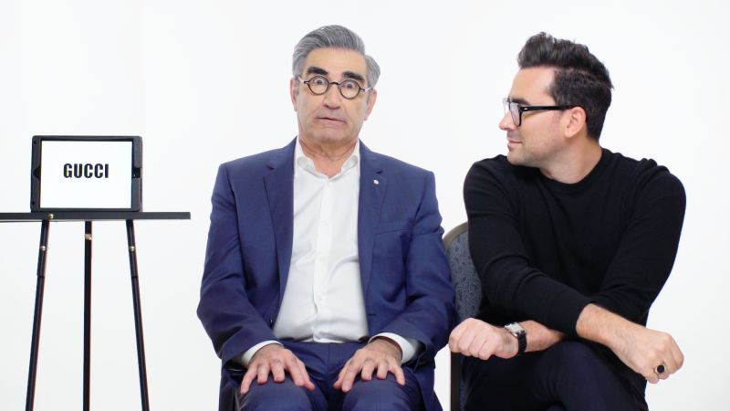 Watch Slang School | Eugene Levy and Dan Levy Teach You Youth Slang |  Vanity Fair Video | CNE