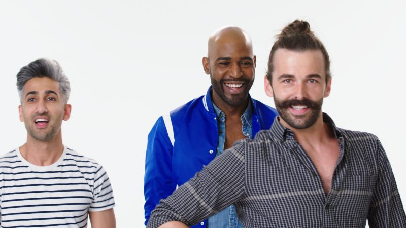 watch 9 things 39 queer eye 39 cast tries 9 things they 39 ve never done before allure video cne. Black Bedroom Furniture Sets. Home Design Ideas