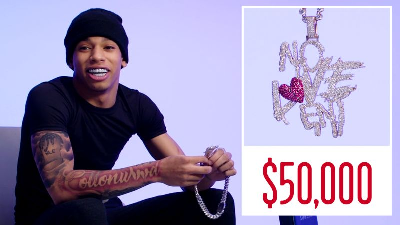 NLE Choppa Shows Off His Insane Jewelry Collection