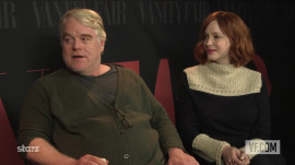 "Christina Hendricks and Philip Seymour Hoffman on ""God's Pocket"""