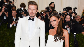 Victoria and David Beckham at the 2014 Met Gala