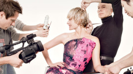 Amber Valletta's Cover Shoot