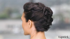 A Gorgeous Updo Idea for Short Hair