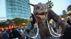 The Giant Creature vs. Angry Dogs at San Diego Comic-Con 2014