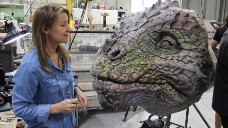 Find Out What it Takes to Sculpt a Giant Dragon-Inspired Character Head