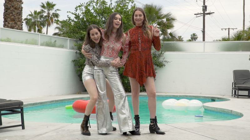 Watch the Haim Sisters Get Ready for Coachella in Custom Chloé