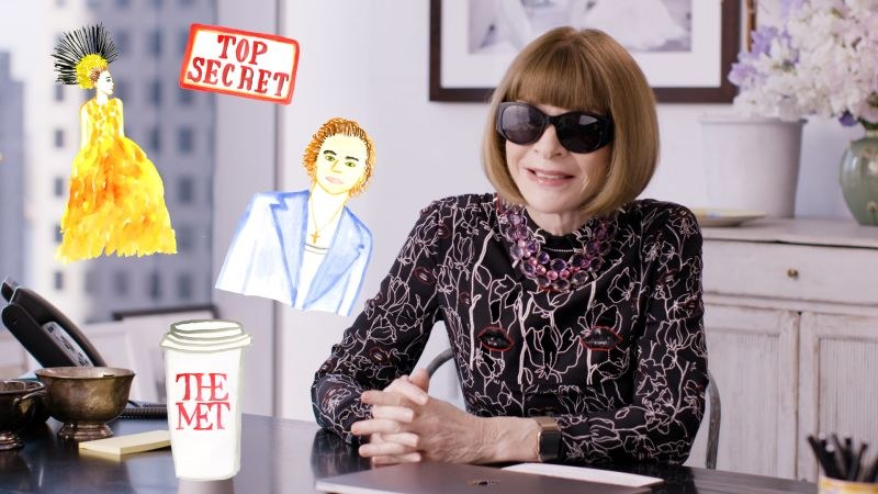 Anna Wintour Answers Questions About 2019 Met Gala
