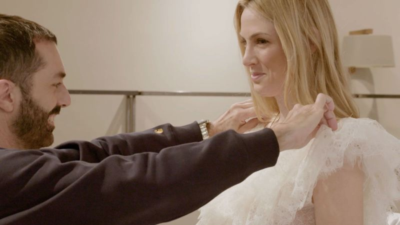 How Giambattista Valli Created Selby Drummond's Fantasy Dress for Her Wedding in Anguilla