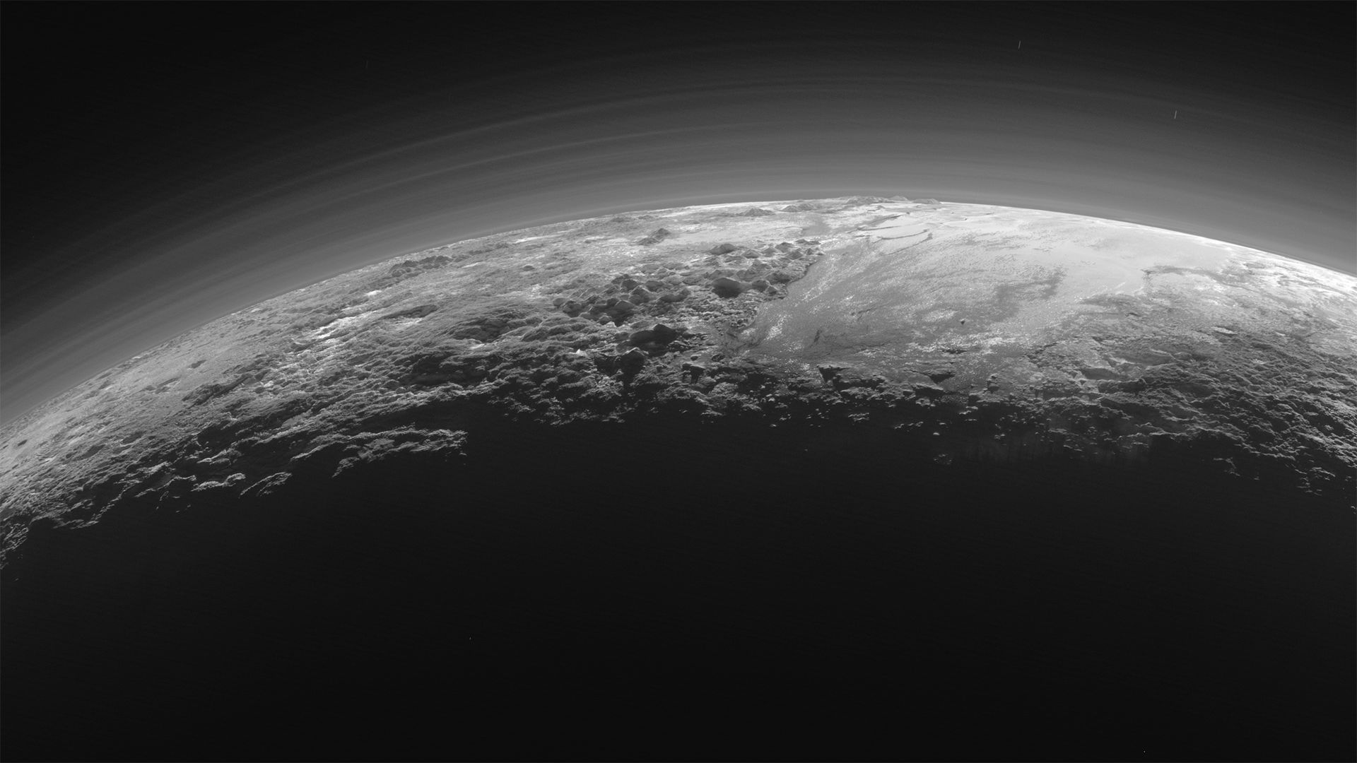 Wired sunset on pluto
