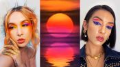 3 Makeup Artists Turn Themselves Into A Sunset