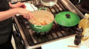 Cooking Shrimp, Pea, & Rice Stew with Chef Andrea Reusing
