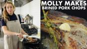 Pan-Roasted Brined Pork Chop
