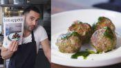 Spicy Lamb Meatballs with Raisin Pesto