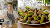 Carla Makes Grilled Chicken Wings with Shishito Peppers