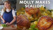Molly Makes Scallops with Corn and Chorizo