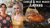 Miz Cracker and Carla Make Chanukah Latkes