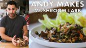 Andy Makes Mushroom Larb with Peanuts