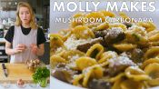 Molly Makes Mushroom Carbonara