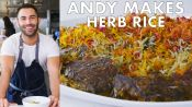 Andy Makes Herb Rice with Scallions and Saffron