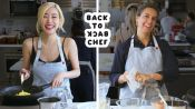 Tiffany Young Tries to Keep Up with a Professional Chef