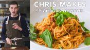 Chris Makes Spicy-Sweet Sambal Pork Noodles