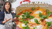 Carla Makes Baked Eggs in Tomato