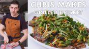 Chris Makes Grilled Brisket with Peanut Salsa