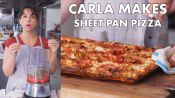 Carla Makes Sheet Pan Pizza