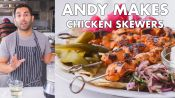 Andy Makes Chicken Skewers