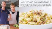 Molly and Adam Make Broccoli Bolognese