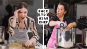Hailee Steinfeld Tries to Keep Up with a Professional Chef