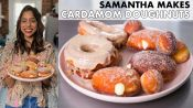 Samantha Makes Cardamom Cream & Maple-Glazed Doughnuts