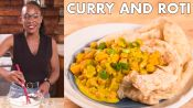 Chrissy Makes Curried Chickpea Roti