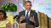 President Barack Obama Crashes the Party