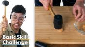 50 People Try to Crack a Walnut