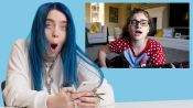 Billie Eilish Watches Fan Covers on YouTube