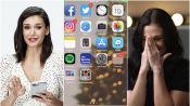 Nina Dobrev Hijacks a Stranger's Phone