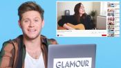 Niall Horan Watches Fan Covers on YouTube