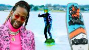 2 Chainz Checks Out an $11.4K Motorized Surfboard