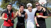 "Hanging out with Austin Mahone and ""the Foolish Four"""