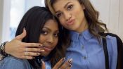 A Nail Art Mani Date with Zendaya and Her Best Friend, Zink
