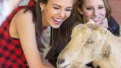Watch Victoria Justice and Her BFF Make Hilarious Animal Voices on a Farm