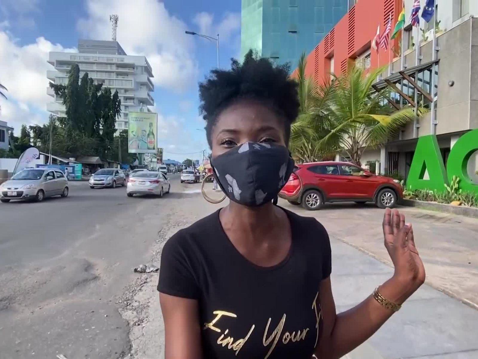 Walking Around In Accra