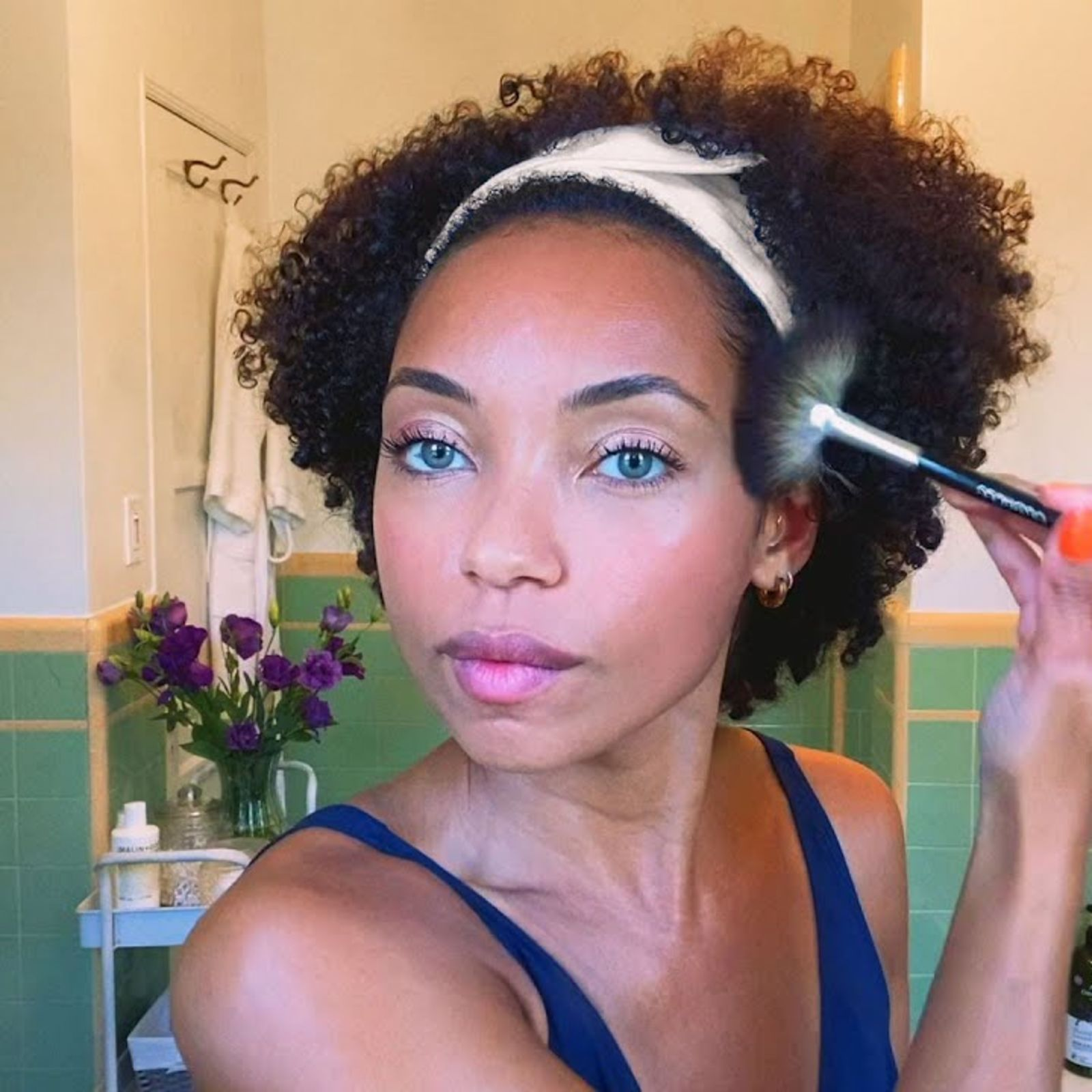 How To Master Smudge-Proof Makeup With Dear White People's Logan Browning | British Vogue