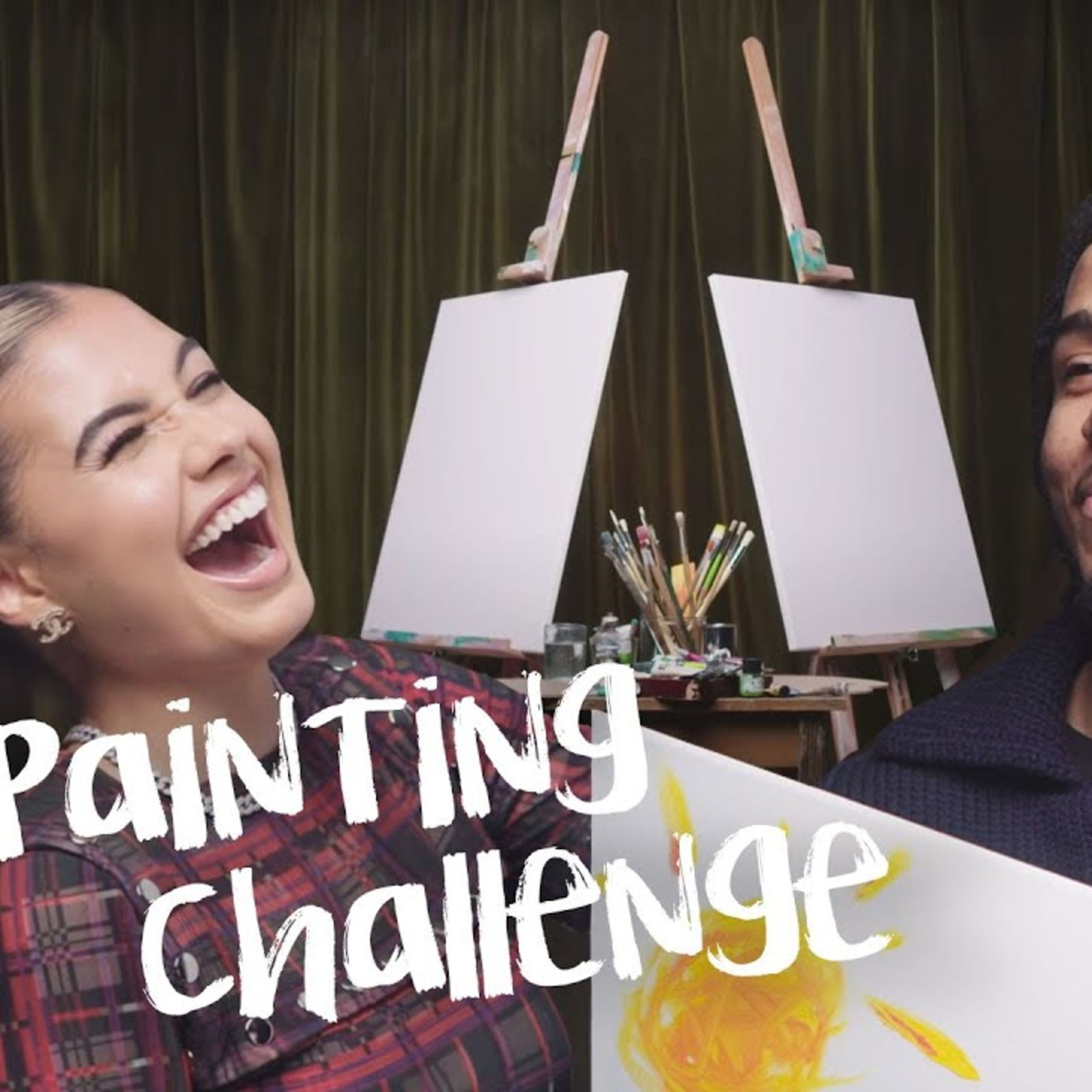 AJ Tracey vs Mabel: The Painting Challenge | Vogue Challenges